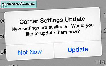 """Carrier Settings Update"" บน iPhone คืออะไร"